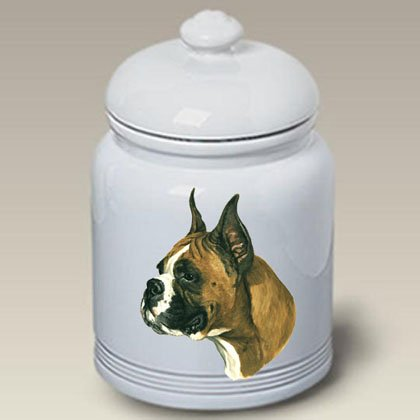 (Boxer (Cropped Ears): Ceramic Treat Jar 10