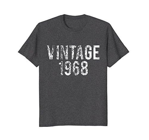 Mens Vintage 1968 50th Birthday Shirt XL Dark Heather