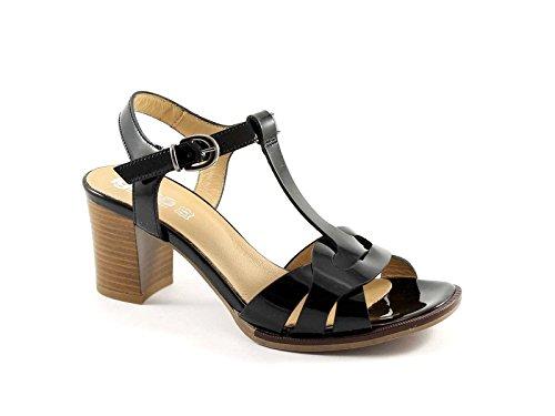 IGI & CO 38530 patentes negro talón de cuero zapatos de las sandalias de la mujer Nero