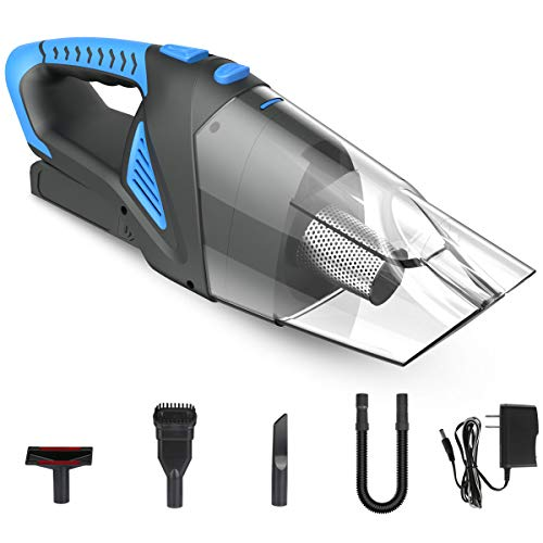 Newinner 6KPa Cordless Handheld Vacuum, Rechargeable Li-ion Battery Cyclonic Suction Portable Vacuum Cleaner, Wet Dry Cleaner Dust Buster for Home & Car Cleaning