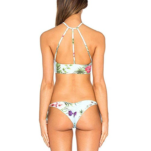 Miluko Charming Halter Neck 2 Pieces Bikini Swimsuit CS/US6 2 Piece Vinyl Halter