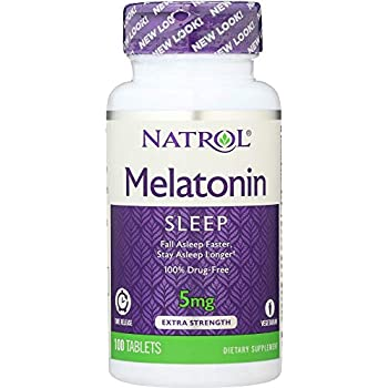 Natrol (NOT A CASE) Melatonin TR Time Release 5 mg, 100 Tablets