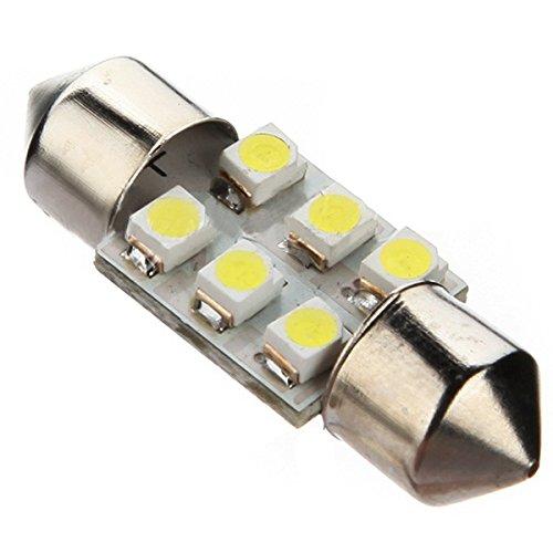 TOOGOO(R)2 pcs 31mm 6LED 1210 Light Bulb DC 12V Car Interior Festoon Light, White New