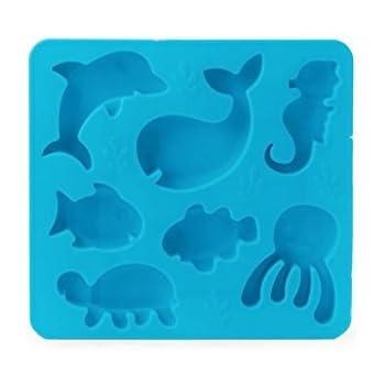 Kikkerland Ice Tray, Under The Sea, Blue