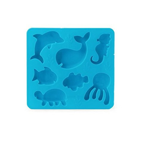 Kikkerland Ice Tray, Under The Sea, Blue