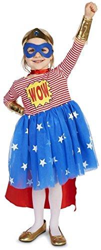 Pop Art Comic Superhero Girl Toddler Costume 4T Red/White -