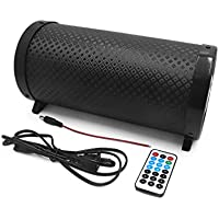 uxcell 5 Inch Univerdsal Cylinder Shaped Stereo Audio Bass Subwoofer for Car Motorcycle