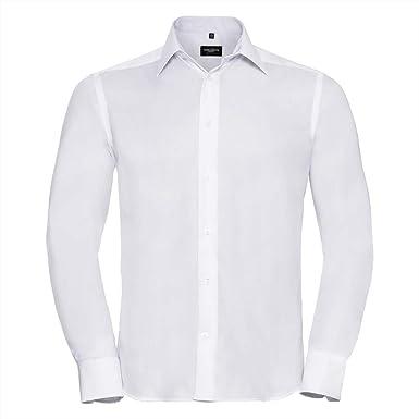 Russell Collection - Camisa de Manga Larga Diseño Ultimate Modelo Non-Iron Hombre Caballero - Trabajo/Boda/Fiesta