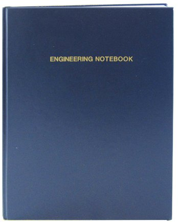 BookFactory Extra Large Blue Engineering Notebook - 168 Pages (.25'' Grid Format), 8 7/8'' x 13 1/2'' (Oversized), Blue Cover, Smyth Sewn Hardbound (LIRPE-168-OGR-A-LBT4) by BookFactory