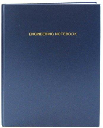 "BookFactory Extra Large Black Engineering Notebook - 312 Pages (.25"" Grid Format), 8 7/8"" x 13 1/2"" (Oversized), Black Cover, Smyth Sewn Hardbound (LIRPE-312-OGR-A-LKT4)"
