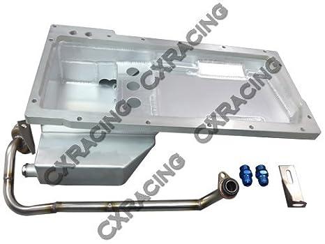 cxracing aluminio aceite pan pastilla para LS1 LSX 64 - 67 Chevelle Swap Camaro Impala: Amazon.es: Coche y moto