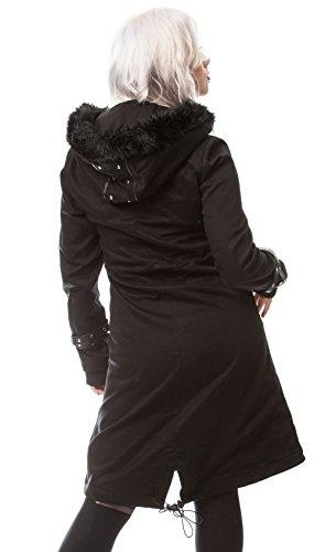 Poizen Industries - Abrigo - para mujer negro