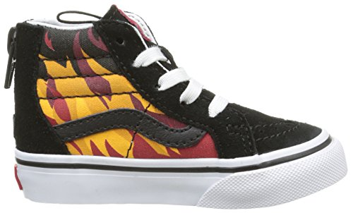 Vans Sk8-hi Zip - Zapatillas Bebé-Niños Multicolor (flame/black/racing Red)