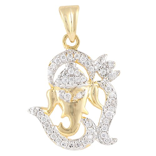 swasti-jewels-gold-plated-lucky-ganesha-zirconia-pendant-for-men-and-women