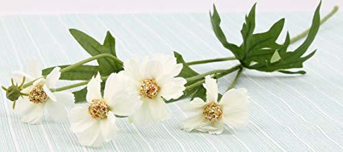 Huishuo Crisantemo Pequeno Crisantemo Silvestre Flor Artificial Sala De Estar Mesa De Centro Mesa De Ajuste Flor Falsa Decoracion Boton Blanco