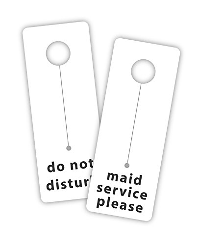 (Hotel & Motel Do Not Disturb/Maid Service Door Tag Hanger 3x8