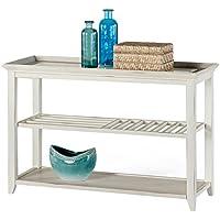 Progressive Furniture P376-05 Sandpiper II Sofa/Console Table, 48L x 18W x 31H, Brushed White