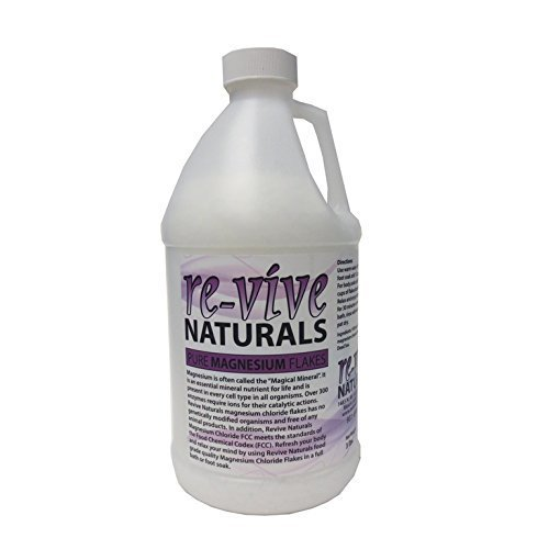 Re-vive Naturals Magnesium Chloride Flakes 3 Lbs Food Grade Quality