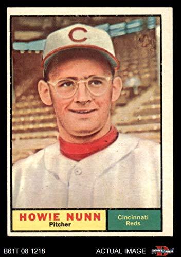 1961 Topps # 346 Howie Nunn Cincinnati Reds (Baseball Card) Dean's Cards 5 - EX Reds