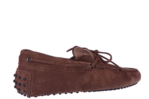 Tod's mocassins homme en daim laccetto gommini 122 marron