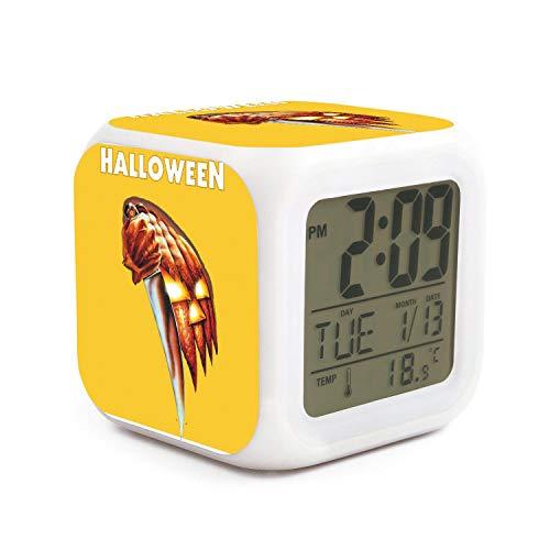 NCHXERE Indoor Temperature Electronic LED Digital Alarm Clock Simple Operation Digital Alarm Clock 8 Adjustable Alarm Sounds Time Display Printted Clock