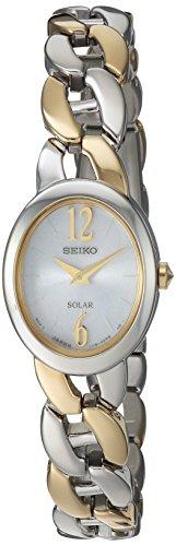 Seiko Women's Quartz Stainless Steel Casual Watch, Color:Two Tone (Model: SUP336) (Tone Seiko Wrist Two Watch)