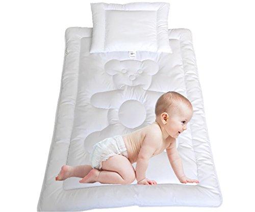 Bärchen Set Versandfrei Bettdecke Kinder Baby Set Steppbett +Kissen100x135cm/40x60cm mit Öko-Tex Standard 100