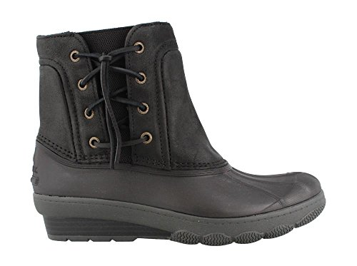 Sider Saltwater Wedge US Tide Women's Sperry 8 Rain Black M Boot Spray Top Quilted B 5qn7Int