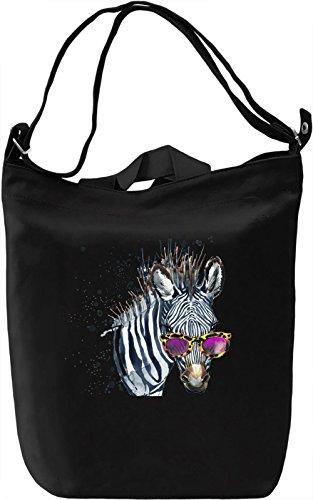 Zebro Borsa Giornaliera Canvas Canvas Day Bag| 100% Premium Cotton Canvas| DTG Printing|