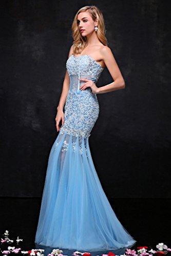 Vimans -  Vestito  - linea ad a - Donna blu 46
