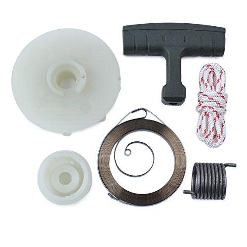 Haishine Recoil Starter Start Pulley Spring Repair Kit for Husqvarna 137 142 235 236 240 530071966 530042095 Chainsaw Engine Motor Parts