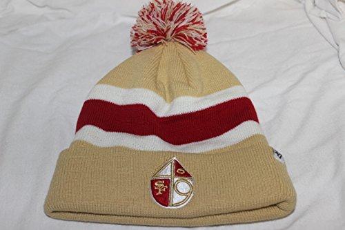 汚いカトリック教徒急流新しいSan Fransisco 49ers Breakawayストライプ47ブランドPom Knit Cuff Beanie