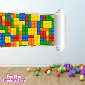 1Stop Graphics   Shop Lego Wall Sticker Full Colour   Boys Girls Bedroom  Batman Superman Toy   C274   Left To Right   Size: Large: Amazon.co.uk: DIY  U0026 Tools
