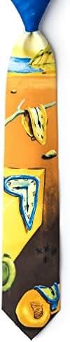 Persistance Of Memory - Salvador Dali Yellow Silk Tie