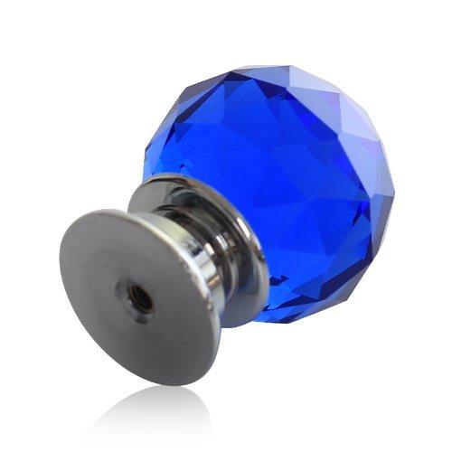 Nabati 4/pcs//lot Bleu 40/mm en verre cristal Boutons de porte Cabinet Placard /à partir Poign/ées Boutons de tiroir Armoire Maison mat/ériel