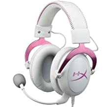HyperX Cloud Gaming Pink Detachable Microphone Headset With Automatic Gain Control Box for PC