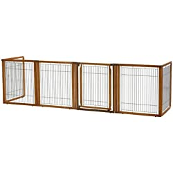 "Convertible Elite 6 Panel Pet Gate Size: 35.8"" H x 135.8"" W x 29.1"" L"