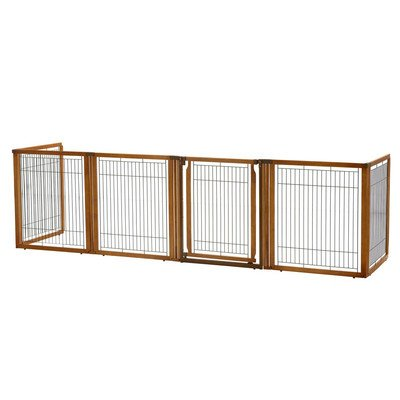 Convertible Elite 6 Panel Pet Gate Size: 35.8'' H x 135.8'' W x 29.1'' L by Richell