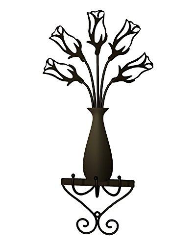 Plastec WH04DB Rose Vase 3 Hooks