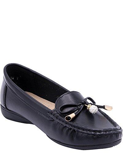 Geers Dames Dames Ornament Boog Flats Zwart