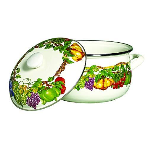 (Kensington Garden Porcelain Enamel 5 Qt Covered Casserole)