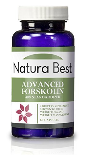 Naturabest Advanced Forskolin Extract 40% Standardized - Natural Forskolin Extract for Weight Loss, Appetite Suppressant, Metabolism Booster, Fat Burner for Men and Women