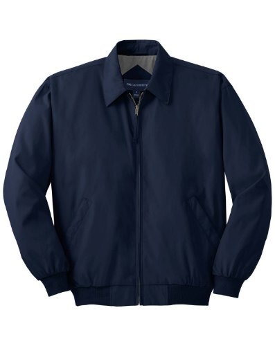 Port Authority J730 Casual Microfiber Jacket - Bright Navy/Solid Pewter Lining - ()
