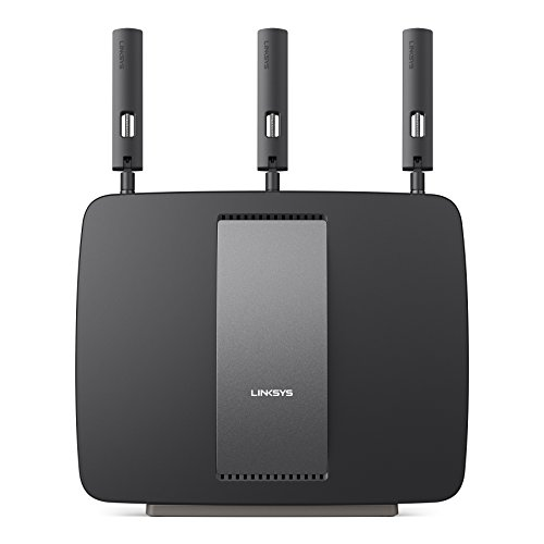 Linksys AC3200 Tri-Band Smart Wi-Fi Router with Gigabit and USB, Designed for Device-Heavy Homes, Smart Wi-Fi App...