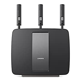 Linksys AC3200 Tri-Band Smart Wi-Fi Router with Gigabit and USB, Designed for Device-Heavy Homes, Smart Wi-Fi App Enabled to Control Your Network from Anywhere (EA9200) 2 Advanced Tri-band Wi-Fi technology Up to 3.2 Gbps wireless speed 1 GHz dual-core CPU and 3 integrated co-processors deliver 2.96GHz of penta-core processing power