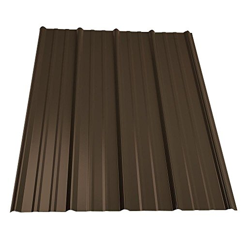Steel Roof Panels (12 ft. Classic Rib Steel Roof Panel in Burnished Slate)