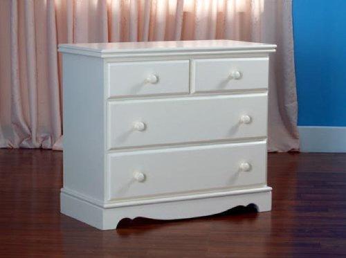 Youth Dresser Birch - Eden Baby Savannah Collection 3-Drawer Chest, Dark Cherry