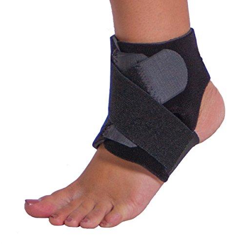 BraceAbility Neoprene Water-Resistant Ankle Brace Wrap-L/XL