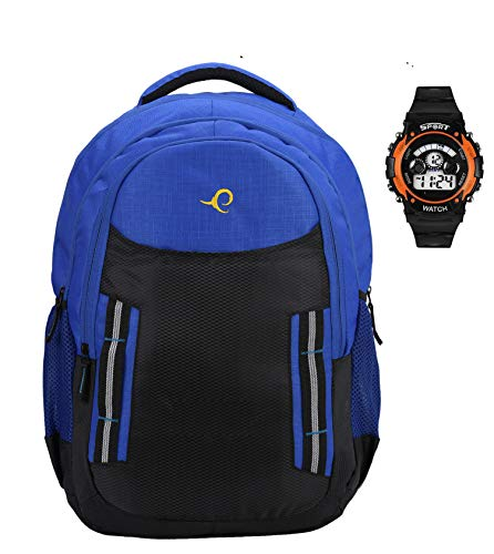 30 Ltrs Blue (15.6 inch) Laptop Backpack/Bag for Men and Women with 3 compartments 1 hiden Pocket with 1 Digital Watch…