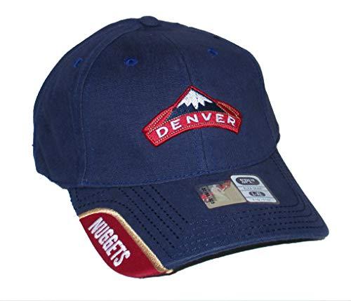 Genuine Merchandise Denver Nuggets Flex Fit Size Large/X-Large Best Fits 7 3/8-7 5/8 Hat Cap - Navy (Nuggets Denver Merchandise)